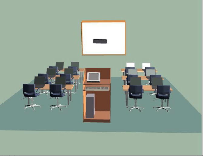 computers in the classrooms