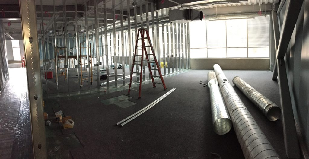 The lab under construction