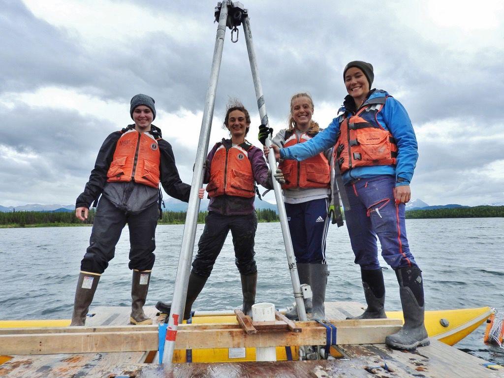 Abby Boak, Ellie Broadman, Emmy Wrobleski, and Annie Wong on Kelly Lake