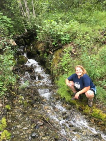 Becca Ellerbroek collects stream data