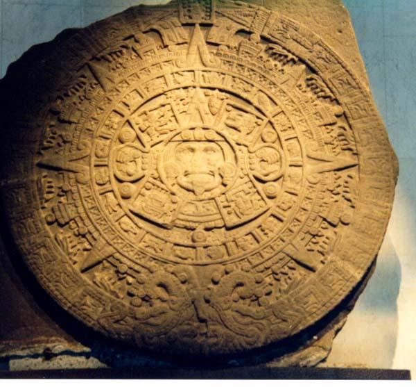 Aztec Calendar Stone.Aztec Calendar Stone