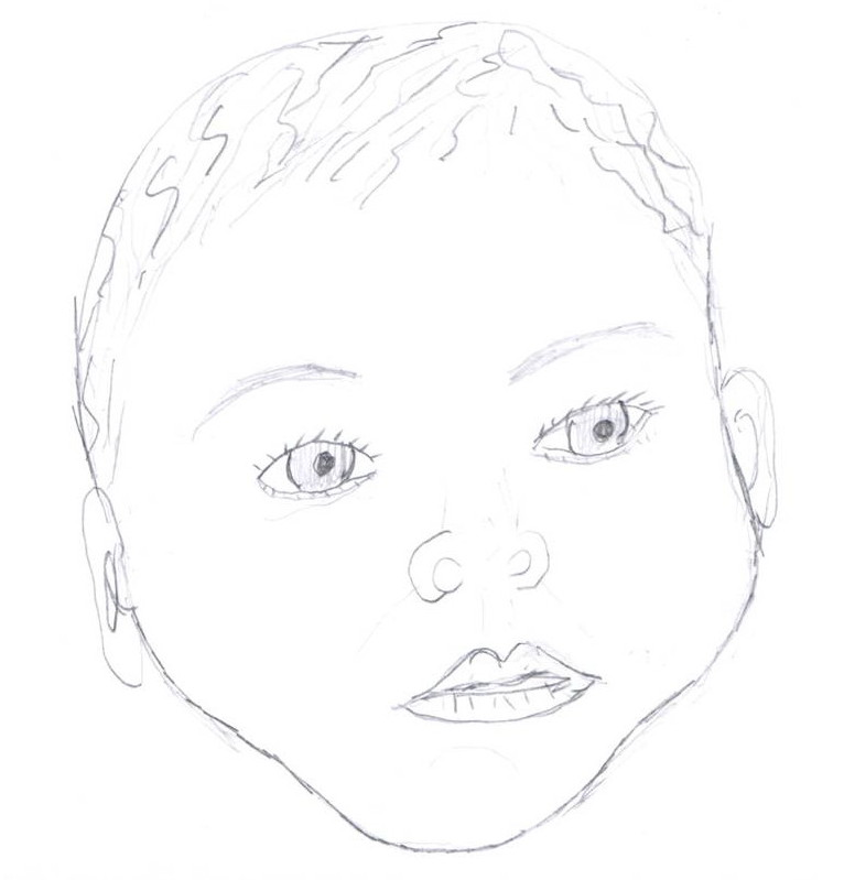 Line Drawing Of Baby Face : Create a baby lab worksheet answer